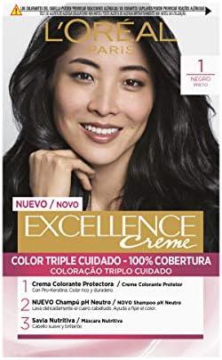 LOréal Paris Excellence Coloración Crème Triple Protección 1 ...