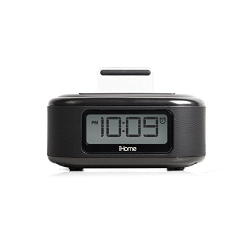 iHome iPL23V2BX Alarm Clock FM Radio with Lightning iPhone Charging Dock Station for iPhone Xs, XS Max, XR, X, iPhone 8/7/6 Plus USB Port to Charge Any USB Device