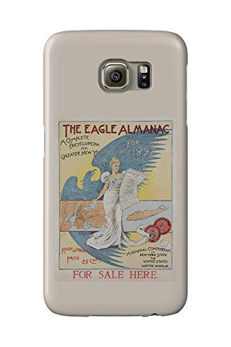 The Eagle Almanac for 1897 Vintage Poster (artist: Fiala) USA c. 1896 (Galaxy S6 Cell Phone Case, Slim Barely There)