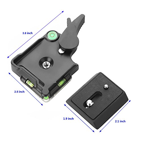 Papaler Quick Release Plate, KINGJOY BB-20A Aluminum Quick Release Plate QR Plate Adapter 1/4