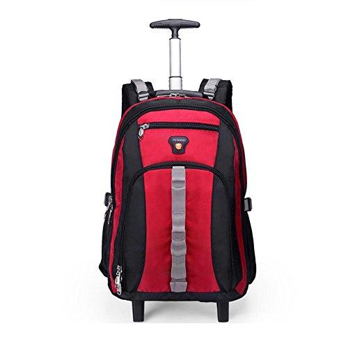 portatile Rosso 2 ruota nbsp;cm 50 Comfortablely Ryanair Virgin approvazione valigia Airways nbsp;silenzioso zaino Atlantic Easyjet British multifunzione con borsa spalle ultra 8 leggero colore aste ppqTSA0
