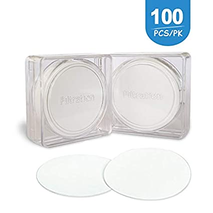 Pack of 100 Hydrophilic PTFE Membrane Filtration Diameter 50mm Pore Size 0.45/μm Laboratory Filtration by Allpure Biotechnology Hydrophilic PTFE, 50mm, 0.45um