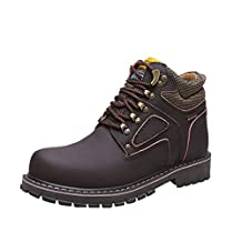 CIROHUNER Men's Lace-up Second Shift Steel Toe Work Boots
