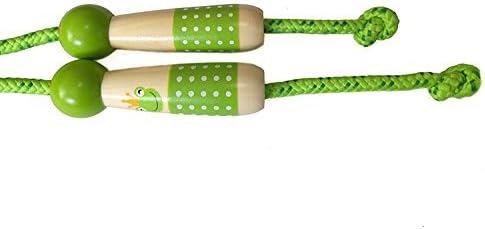 per Giocare ed Esercitarsi Verde OFKPO Corda per Saltare Regolabile in Cotone e Legno per Bambini