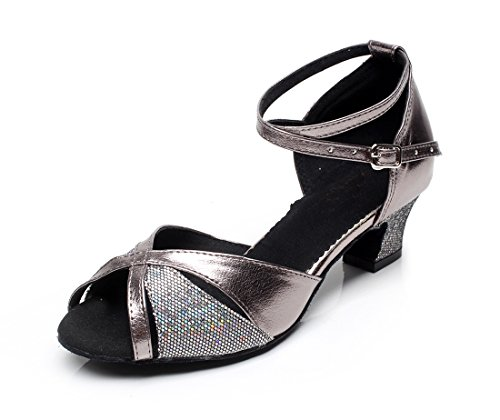 Da Chunky Scarpe Ballo Come Minitoo Tacco Donna Comfort Black Latino Colorful qwBF6xRnd
