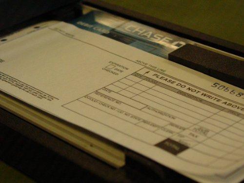 Credit Card Sales Slips - 12 packs of 100 2 part long imprinter form