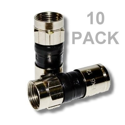 PPC EX6XL PLUS UNIVERSAL RG-6 COMPRESSION CONNECTOR - 10 PACK Coax Seal