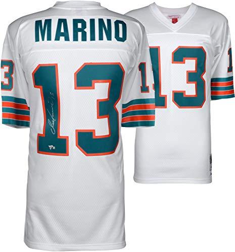 ec9b088e Dan Marino Miami Dolphins Autographed White Replica Mitchell & Ness Jersey  - Fanatics Authentic Certified
