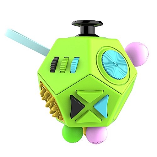 Dohomai Fidget Cube for Children and Adults Relieves Stress Anxiety and Attention Toy at your finger tips (green&colorful)