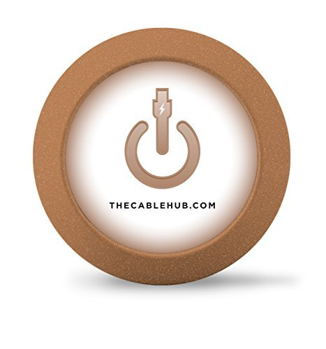 CableHub - Cable Management Solution - Weighted to organize power cords and charging accessory cables on desktop - Round (Metallic Copper) by CableHub (Image #6)