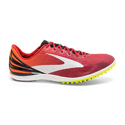 Brooks Men's Mach 17 Spike High Risk Red/Exuberance/Black Sneaker 10 D (M) Brooks Running Spikes
