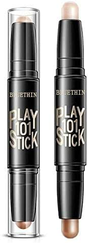 Joykith Beauty BLUETHIN Double Head Repair Concealer Stick Lasting High Gloss Stick face Cream Waterproof Shimmer Contour Double-end 2 in 1 Feel Light and Soft,Natural & Waterproof for All Day