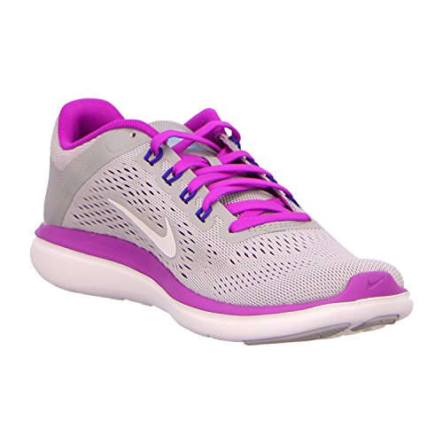 Nike Vrouwen Flex 2016 Rn Loopschoenen Wolf Grijs / Hyper Violet / Concord / Wit