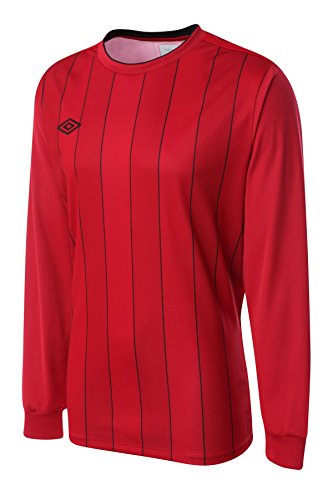 Umbro Men's Long Sleeved Soccer Jersey Continental Stripe XX-Large Red - Umbro Sleeve Long