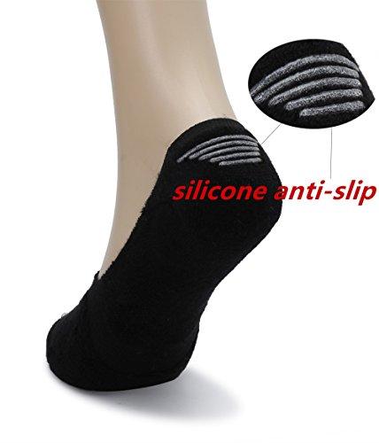Eleray 5-Pack Women's Thick Cushion Cotton Casual Low Cut Falt Non-Slip No Show Liner Socks (Black) by eleray (Image #2)