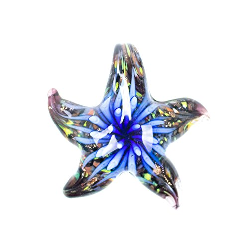 "Paracord Planet Glass Starfish Pendants Available in Various and Unique Colors (Blue ""Osiris"")"