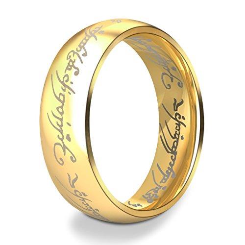 b9d0a7b135e8 Dalaran Anillos de acero inoxidable para hombres Mujeres Los señores de los  anillos de plata