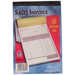 adams invoice book