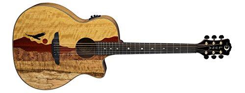 Luna VISTAEAGLE Luna Acoustic/Electric Guitar, Tropical Wood