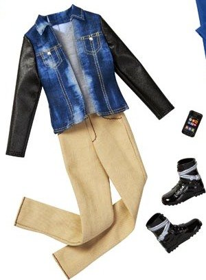 Ken Doll Fashion Outfit Trendy Shirt Pants and Gray Shoes by Barbie