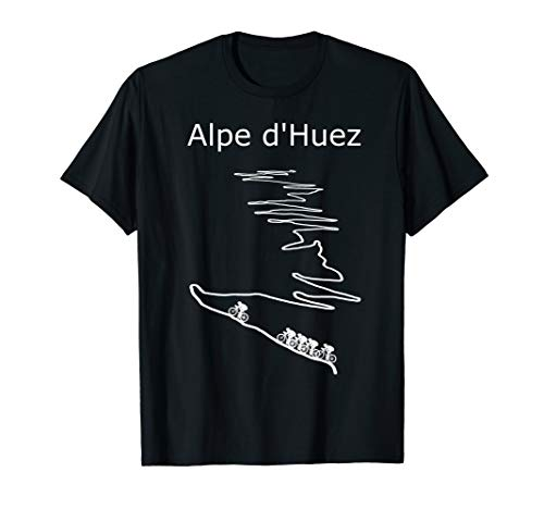 Alpe d Huez in France cycling shirt for men and women