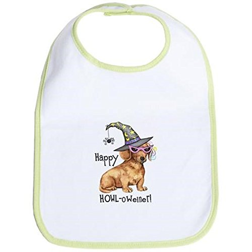 CafePress Halloween Dachshund Bib Cute Cloth Baby Bib, Toddler -