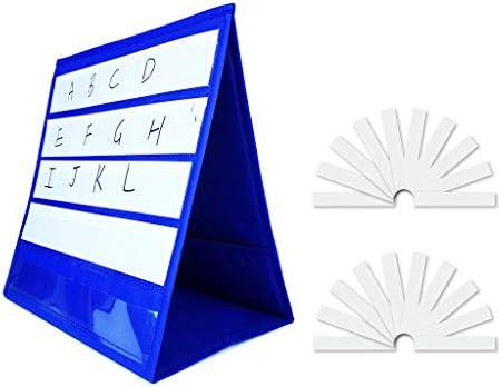 Kleine Gruppen-Anleitung, Tisch-Taschendiagramm, Tisch-Taschendiagramm mit 20 Karten, trocken abwischbar, doppelseitig und selbststehend