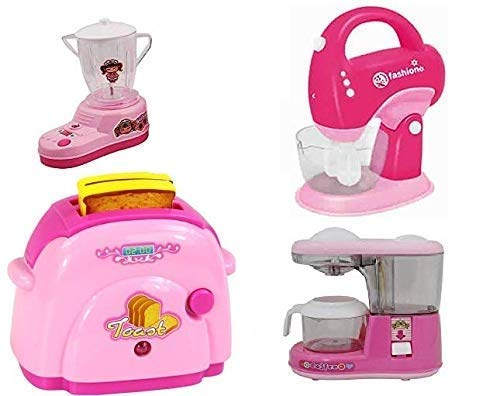 Inayat Household Set for Kids Pretend Play Set, Beautiful Home Appliances Kitchen Play Sets Toys for Kids Girls (Set of 4)