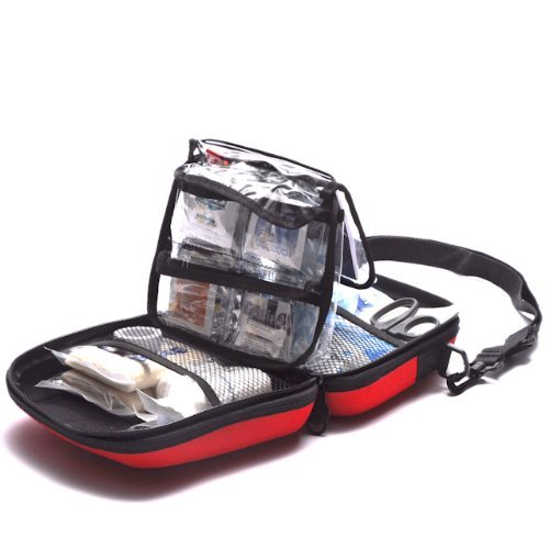 Be Smart Get Prepared 201 Piece First Aid Kit Office, Home, Car, School, Emergency, Survival, Camping, Hunting, Sports and Outdoors