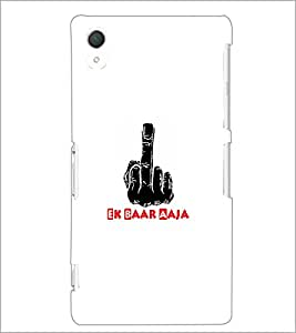 PrintDhaba Middle Finger D-5493 Back Case Cover for SONY XPERIA Z2 (Multi-Coloured)