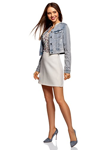 Short Jacket Denim oodji 7000w Women's Ultra Blue 7zwpTqE
