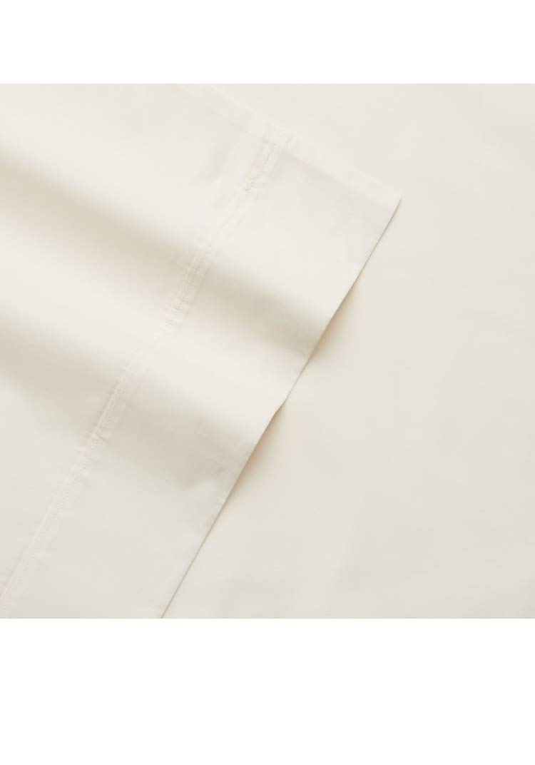 Sonoma Goods For Life 300 Thread Count The Everyday Sheet Set Twin, Solid Ivory