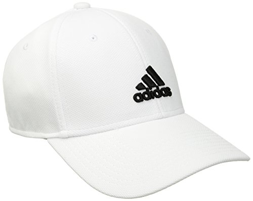 adidas Men's Rucker Stretch Fit Cap, White/Black, (Stretch Fit Golf Hat)