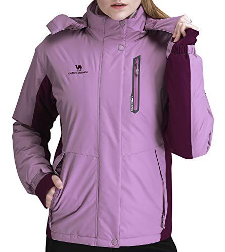 CAMEL CROWN Women's Mountain Snow Waterproof Ski Jacket Detachable Hood Windproof Fleece Parka Rain Jackt Winter Coat – DiZiSports Store