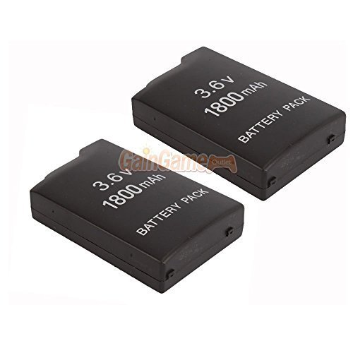 2X New 3.6V 1800mah Rechargeable Battery for Sony PSP-110 PSP-1001 PSP 1000 US ()