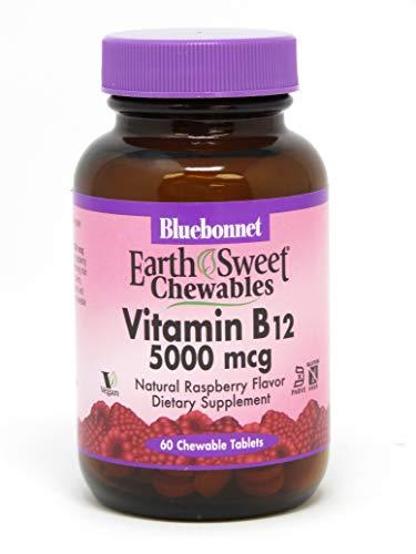 B-12 Chewable Vitamins - Bluebonnet Nutrition Earthsweet Chewable Vitamin B-12 5000 Mcg, 60 count