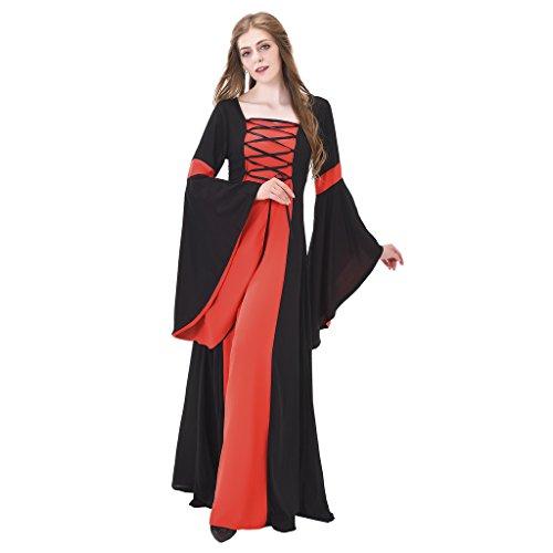 Cheap Renaissance Costumes (1791's lady Renaissance Dress Medieval Costume NQ0024-3-S)
