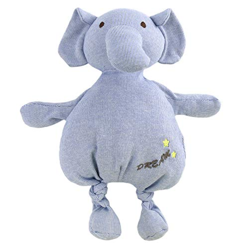 Houwsbaby Elephant Stuffed Animal Soft Toy Floppy Plush Toy Toddler Kid Gift, Blue, 12.5in