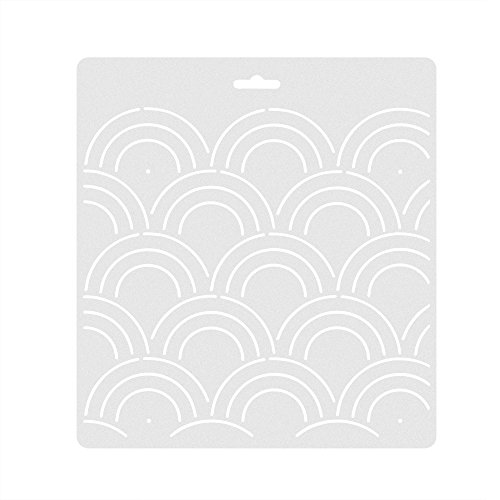 Kloud City 1 Piece Plastic Circular Wave Pattern Stencil Quilting Template for DIY Patchwork Sewing Craft Tool