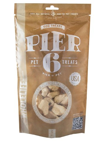 Whole Life Pet Products Pier6 Treats for Dogs, 3-Ounce
