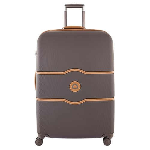Delsey Luggage Chatelet Hard+ 28 inch 4 Wheel Spinner , Chocolate by DELSEY Paris