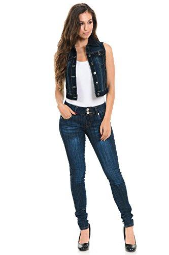 (M.Michel Women's Denim Vest · Style M615 · Indigo · Size Small)