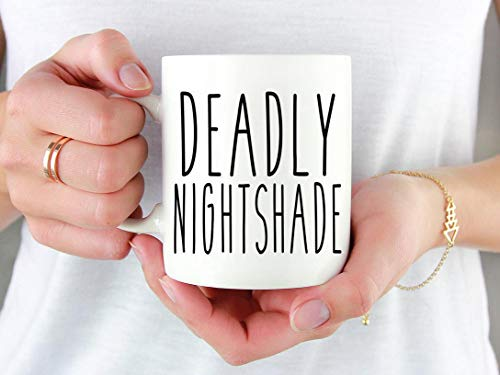 Halloween Mug, Nightmare Before Christmas, Halloween, Halloween Quote, Deadly Nightshade, Funny Halloween, Halloween Coffee Cup
