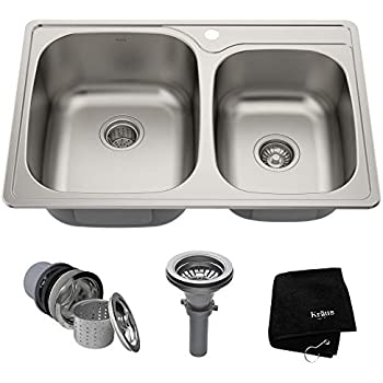 Afa Stainless 33 Kitchen Sink And Pull Down Faucet Combo