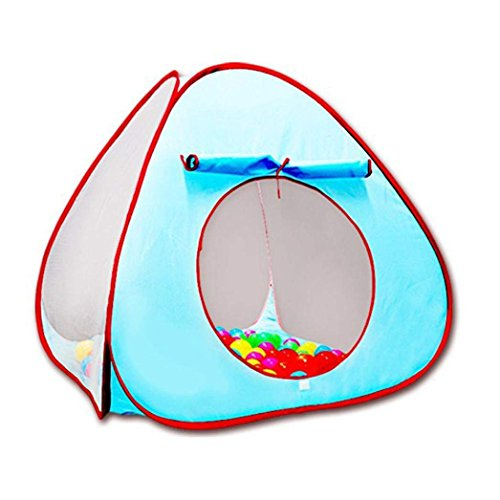 Game Tents - BaiYouDa Children Tent Game Pool Game House Outdoor Ocean Ball Pool (Blue)