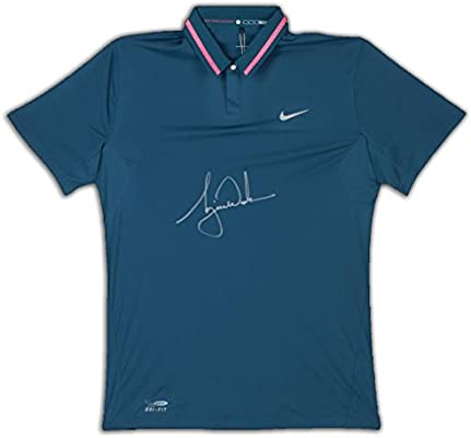 d2a83bd2f032 TIGER WOODS Signed Nike Performance Graphic Tilt Polo LE of 25 UDA. at  Amazon s Sports Collectibles Store