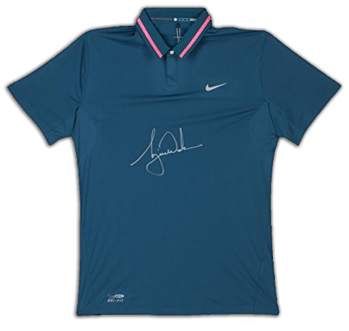 TIGER WOODS Signed Nike Performance Graphic Tilt Polo LE of 25 ()