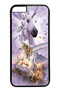 iphone 6 plus Case and Cover -Double Rainbow Unicorn Polycarbonate Hard Case Back Cover for iphone 6 plus 5.5 inch Black