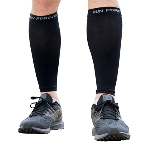 Calf Compression Sleeves - Leg Compression Socks for Runners, Shin Splint, Varicose Vein & Calf Pain Relief - Calf Guard Great for Running, Cycling, Maternity, Travel, Nurses from Run Forever Sports