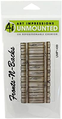 Art Impressions Fence Rubber Stamp